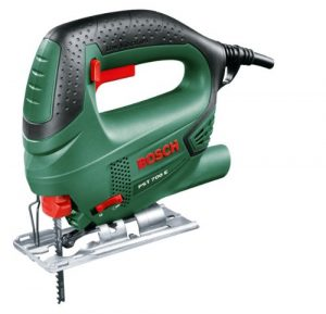 Bosch DIY Stichsäge PST 700 E DIY, 1 Sägeblatt T 144 D für Holz, Koffer (500 W, Schnitttiefe in Holz 70 mm, Schnitttiefe in Stahl 4 mm)