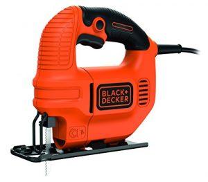 Black + Decker 400W Kompakt-Stichsäge, Späne-Blasfunktion, ergonomisches Design, Feststellschalter, KS501