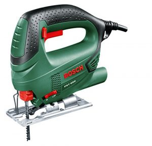 Bosch DIY Stichsäge PST 650, 1 Sägeblatt T 144 D für Holz, Koffer (500 W, Schnitttiefe in Holz 65 mm, Schnitttiefe in Stahl 4 mm)