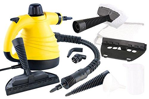 Sichler Haushaltsgeräte Tragbarer Dampfreiniger mit großem Zubehör-Pack, 1.000 W
