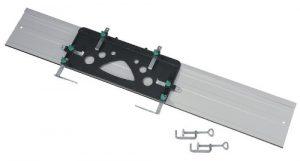 Wolfcraft 1 FKS 115 – Führungsschiene für Handkreissägen. Inklusive 2 Zwingen. 1150 x 220 x 3