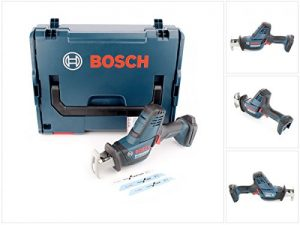 Bosch Professional GSA 18 V-LI C Akku-Säbelsäge, Schnitttiefe bis 200 mm in Holz, 100 mm in Metalprofilen, 2,5kg, Solo Version, L-BOXX, 1 Stück, 06016A5001
