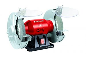 Einhell Doppelschleifer TH-BG 150 (150 W, Drehzahl 2950 min-1, 230 V/50 Hz, inkl. Grob- und Feinschleifscheibe, flexible Welle)