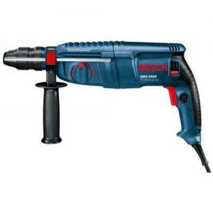 Bosch Professional GBH 2600 Bohrhammer, SDS-plus-Wechselfutter, 13 mm Schnellspannbohrfutter, 720 W, Koffer, 0611254803