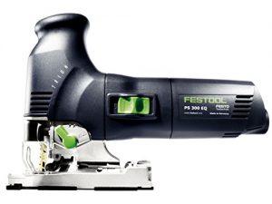 Festool Pendelhubstichsäge inkl. 2 Sägeblätter PS 300 EQ-PLUS Trion (230V, Schnitttife Holz 120mm, Schrägstellung 0-45, Pendelhubverstellung in Stufen 4), 561445