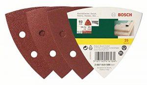 Bosch DIY 25tlg. Schleifblatt-Set verschiedene Materialien für Deltaschleifer (Körnung 60/120/240, 6 Löcher)