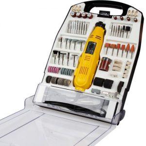 Timbertech Mini-Schleifer Schleifmaschine 243 teilig Multischleifer inklusive Koffer 135W