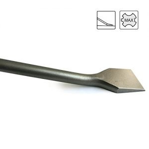 S&R Fliesenmeißel SDS MAX 400x50mm, abgewinkelt für Bohrhämmer ab 5 kg mit SDS-MAX Aufnahme