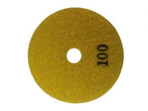Diamant – Schleifpad Trockenschliff 100mm Klettscheibe Körnung : 100