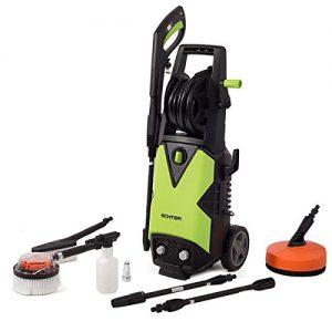 HomeKraft Hochdruckreiniger / Terrassenreiniger Schter 2000 W, 150 Bar, 1 Stück, schwarz / grün, 5902533901142