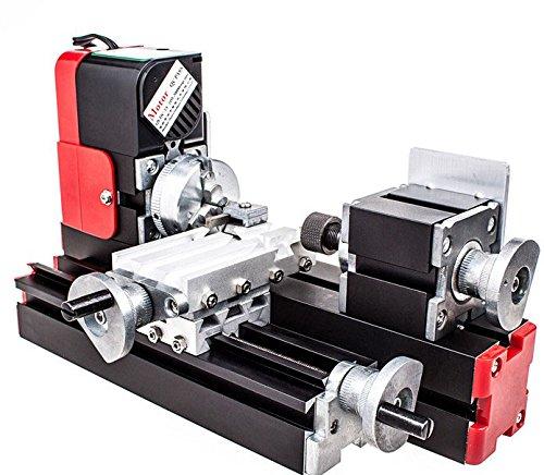 Motorisierte Mini Metallbearbeitung Drehmaschine Schleifmaschine Heimwerkerutensilien Metall Holzverarbeitung für die Pädagogik der Naturwissenschaften Hobby Modellbau