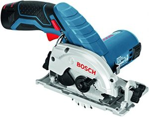 Bosch Professional GKS 10,8 V-LI Akku-Kreissäge, 2 x 2,5 Ah Akku, Sägeblatt, 10,8 V, L-Boxx, 06016A1003