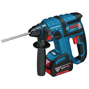 Bosch Professional GBH 18 V-EC Akku-Bohrhammer mit SDS-plus, 2×4,0 Ah Akku, EC-Motor, 2,6 kg inkl. Akku, 18 V, L-Boxx