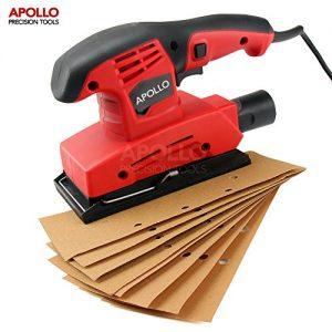 Apollo 150 Watt 1/3 Blatt Exzenterschleifer mit 9-teiligem Schleifpapierset