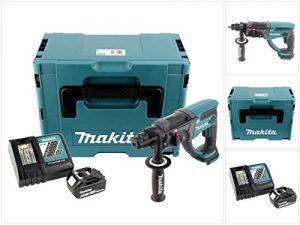 Makita DHR 202 Y1J-P 18 V Akku Kombihammer SDS-Plus im Makpac mit 3,0 Ah Akku und Ladegerät