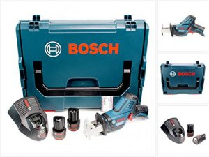 Bosch GSA 10,8 V-LI Professional Akku Säbelsäge in L-Boxx + 2 x GBA 10,8 V 2,5 Ah Akku + AL 1130 CV Schnelllader