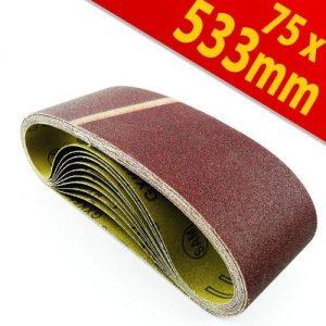 Schleifpapier Bandschleifer 75×533 mm Schleifbänder K40 Schleifband 10Stck