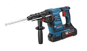 Bosch Professional GBH 36 VF-LI Plus Akku-Bohrhammer, 2 x 4,0 Ah Akku, SDS-plus Wechselfutter, 36 V, L-Boxx, 0611907002