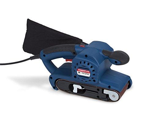 Powerplus Bandschleifer 800 Watt Schleifmaschine + Schleifband + Staubsack