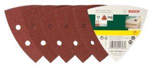 Bosch DIY 25tlg. Schleifblatt Set verschiedene Materialien für Deltaschleifer (Körnung 60, 6 Löcher)