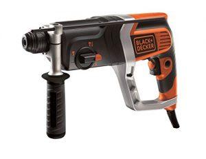 Black+Decker 850W pneumatischer Bohrhammer, Meißelhammer mit SDS-plus-Aufnahme, 2.4J, kraftvoll, zum Bohren, Hammerbohren und Meißeln, Rechts-/Linkslauf, Zweithandgriff, Koffer, Zubehör, KD990KA