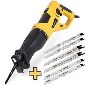 Säbelsäge 720 Watt POWX0396 + 6 Holzsägeblätter