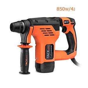 Tacklife RHN30AC Professional AC 800W SDS Plus Bohrhammer zum Bohren, Hammerbohren sowie zum Meißeln & Einstellrichtung mit 5 Bohrer