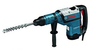 Bosch Professional GBH 8-45 D, 1.500 W Nennaufnahmeleistung, 12,5 J Schlagenergie, 12 – 45 mm Bohr-Ø in Beton mit Hammerbohrern, Koffer, Zusatzhandgriff