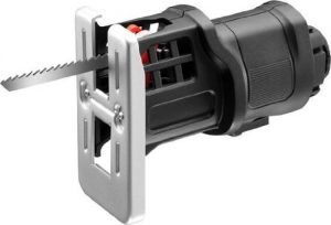 Black+Decker Multievo Stichsägen-Kopf, 14.4V Multifunktionswerkzeug-Zubehör, 0-2500 Hübe pro Minute, 13mm Hublänge, variable Geschwindigkeit, präzises Schneiden, inklusive 5 Holzsägeblätter, MTJS1
