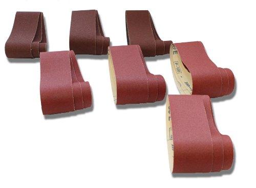 10-teiliges Premium Schleifband Set 75x533 mm Korn 60-400