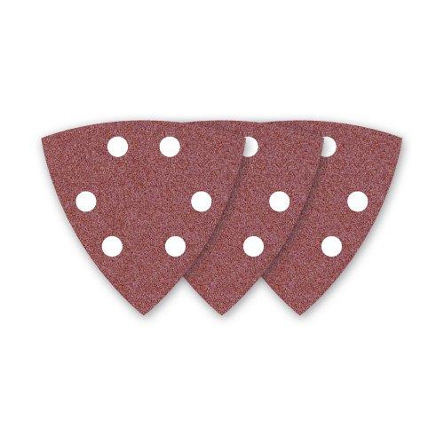 50 MENZER Klett-Schleifblätter / Schleifpapier für Deltaschleifer rot - 93 mm - Korn 120 - 6-Loch