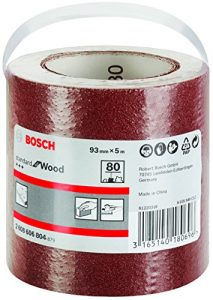 Bosch Pro Schleifrolle Standard for Wood and Paint für Weichholz (93 mm, 5 m, Körnung 80, C410)