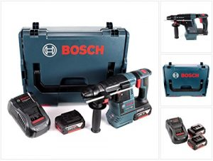 Bosch GBH 18 V-26 Akku Bohrhammer Professional SDS-Plus in L-Boxx mit 2 x GBA 5 Ah Akku und GAL 1880 CV Ladegerät