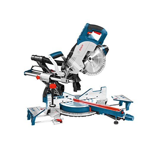 Bosch Professional GCM 8 SJL Paneelsäge (230 V, 216 mm Sägeblattdurchmesser, Innensechskantschlüssel, Kreissägeblatt, Spannzwinge), blau, 0601B19100