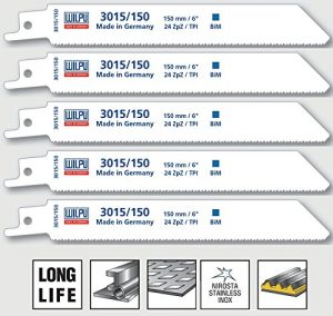 Säbelsägeblätter 5 Stück Bi-Metall 150 mm für Säbelsäge S922AF Wilpu 3015/150