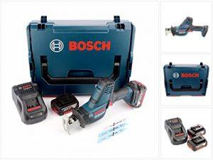 Bosch GSA 18 V-LI C Professional Akku Säbelsäge + 2x Bosch GBA 5,0 Ah Akkus + Ladegerät + L-Boxx
