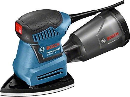 Bosch Professional Schwingschleifer GSS 160-1 A Multi, Staubbox inklusiv Microfilter, 3x Schleifblatt, 3x Schleifplatte, Lochwerkzeug, 1x Schraubendreher, L-Boxx Gr.2, 1 Stück, 06012A2300