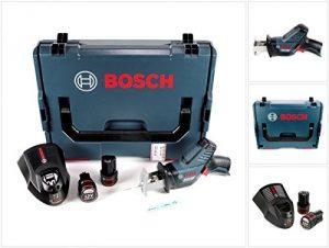 Bosch GSA 12V-14 Li-Ion Professional Akku Säbelsäge in L-Boxx + 2 x GBA 12 V 2,5 Ah Akku + 1 x GAL 1230 Ladegerät