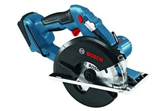 Bosch Professional GKM 18 V-LI Akku-Kreissäge, Sägeblatt-Ø 136 mm, Solo Version, L-BOXX, 1 Stück, 06016A4001