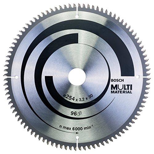 Bosch Zubehör 2608640451 Kreissägeblatt Multi Material 254 x 30 x 3,2 mm, 96