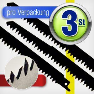 3 Stück Säbelsägeblätter HCS 240 mm Z 5 mm Sägeblatt Holz Plastik Kunststoff für Säbelsäge