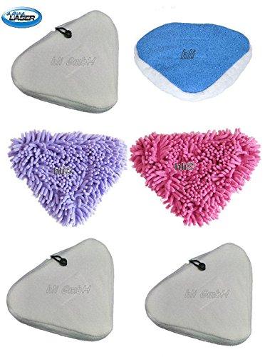 6 Bezüge Ersatztücher für Dampfbesen / Premium Bodentücher aus Mikrofaser