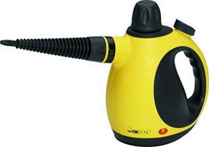 Clatronic DR 3653 Dampfreiniger inkl. 9-teiligem Zubehör, extra 5 m langes Kabel