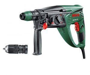 Bosch Bohrhammer PBH 3000-2 FRE (SDS Bohrfutter, Flachmeißel, Tiefenanschlag, Zusatzhandgriff, Koffer, 750 Watt)