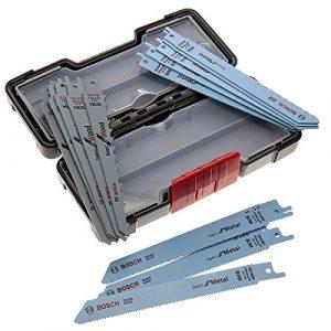 Bosch 2607010901Säbelsägeblätter für Holz/Metall in harter Box,Schwarz (15Stück)