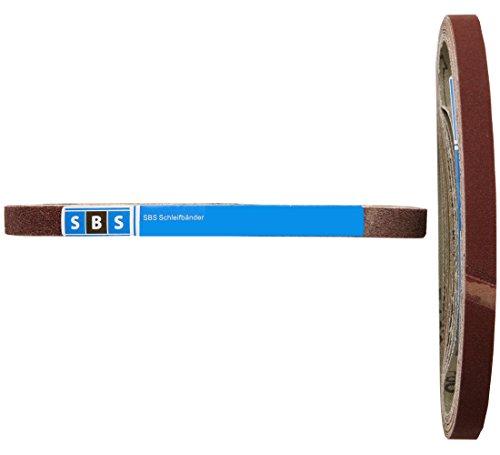 SBS Gewebe-Schleifbänder   13 x 457mm   96 Stück   Körnungen je 16x 40/60/80/120/180/240 für Black & Decker Powerfeile