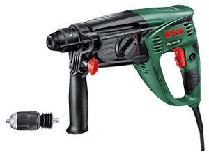 Bosch Bohrhammer PBH 3000 FRE (SDS Bohrfutter, 4tlg. SDS-Set, Flachmeißel, Tiefenanschlag, Zusatzhandgriff, Koffer, 750 Watt)