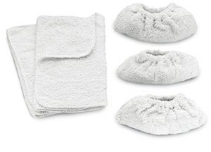 Kärcher Terry Cotton Reinigungstücher (geeignet für Dampfreiniger, 2 x Boden Tool, 3 x Hand Tool Tuecher)