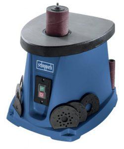 Scheppach Spindelschleifmaschine OSM100, oszillierender Spindelschleifer mit Grauguss-Arbeitstisch, 450 W, höchste Präzision, blau, Art.-Nr. 4903401901