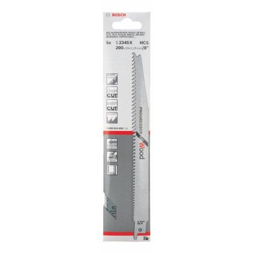 Bosch Reciprosägeblätter Holz lang S2345X 5 Stück